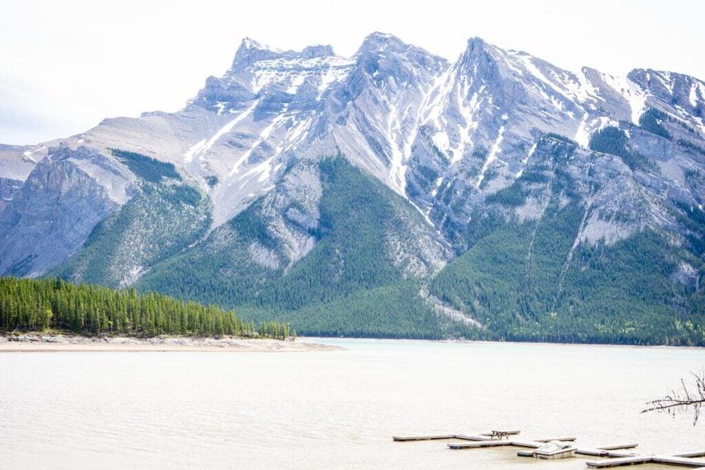 boat launch at Lake Minnewanka in Banff National Park