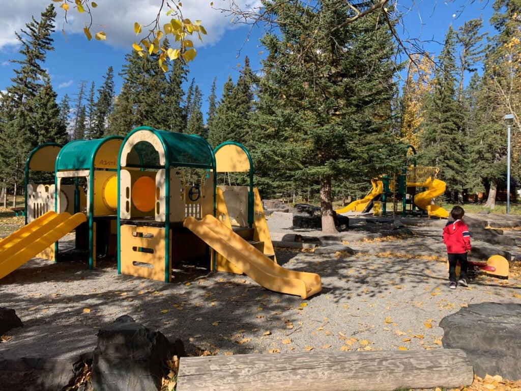 Playground at Banff recreation grounds