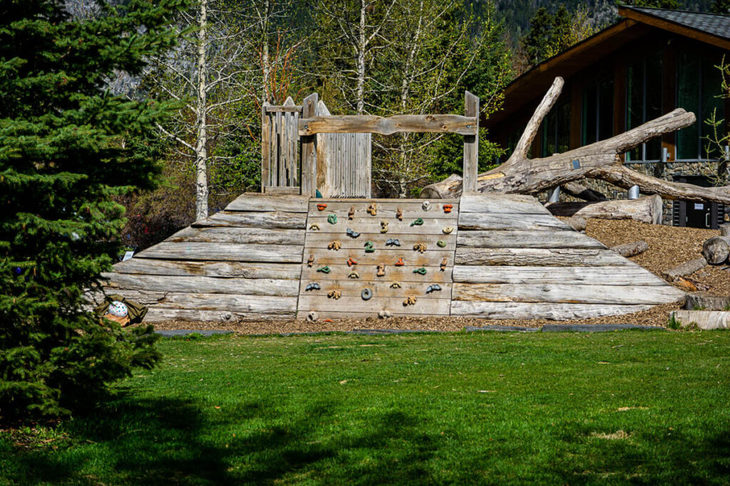 Playground in Banff Central Park