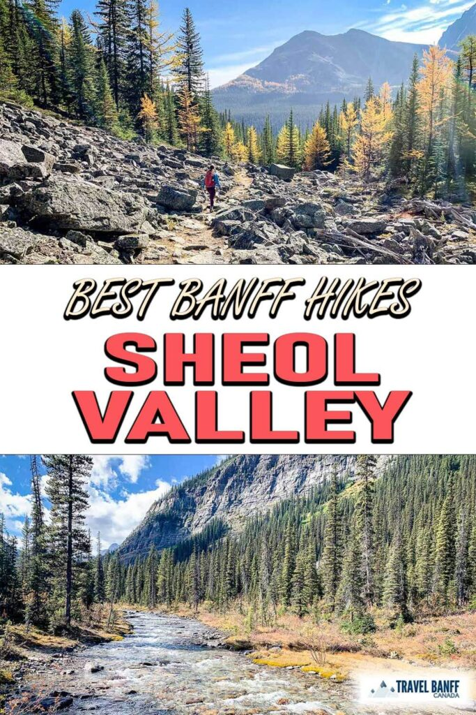 Looking for a spectacular Banff hike? There is so much to love about the Sheol Valley Lake Louise hike. Sheol Valley is a connector hike between the Saddleback Pass Trail and the Paradise Valley Trail – two outstanding Lake Louise hikes on their own merits.