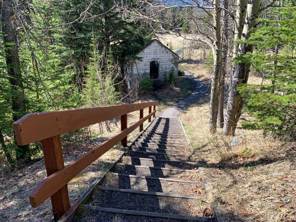 The Lamphouse building is one of the most intact buildings at the Bankhead Banff ghost town