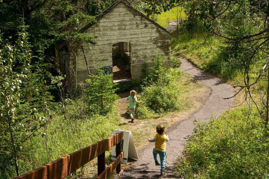 When visiting Banff with kids, be sure to visit the Alberta ghost town of Bankhead