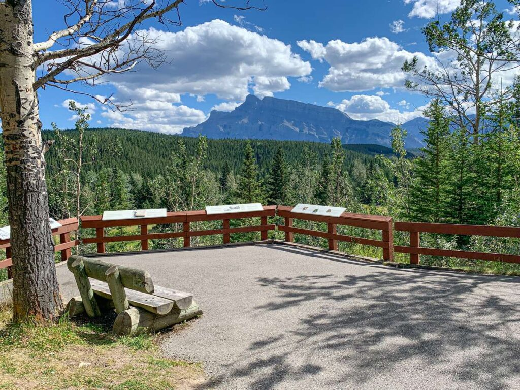 Mount Rundle as seen from the Bankhead ghost town in Banff National Park