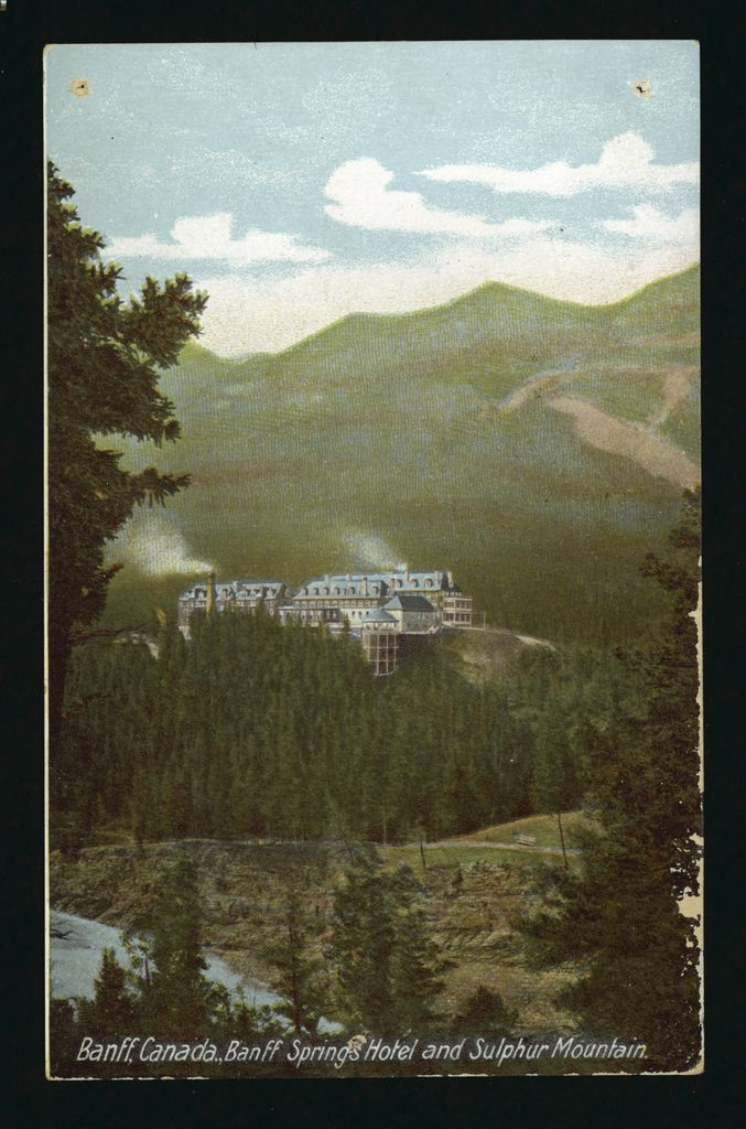 image of original Banff Springs Hotel, Canada