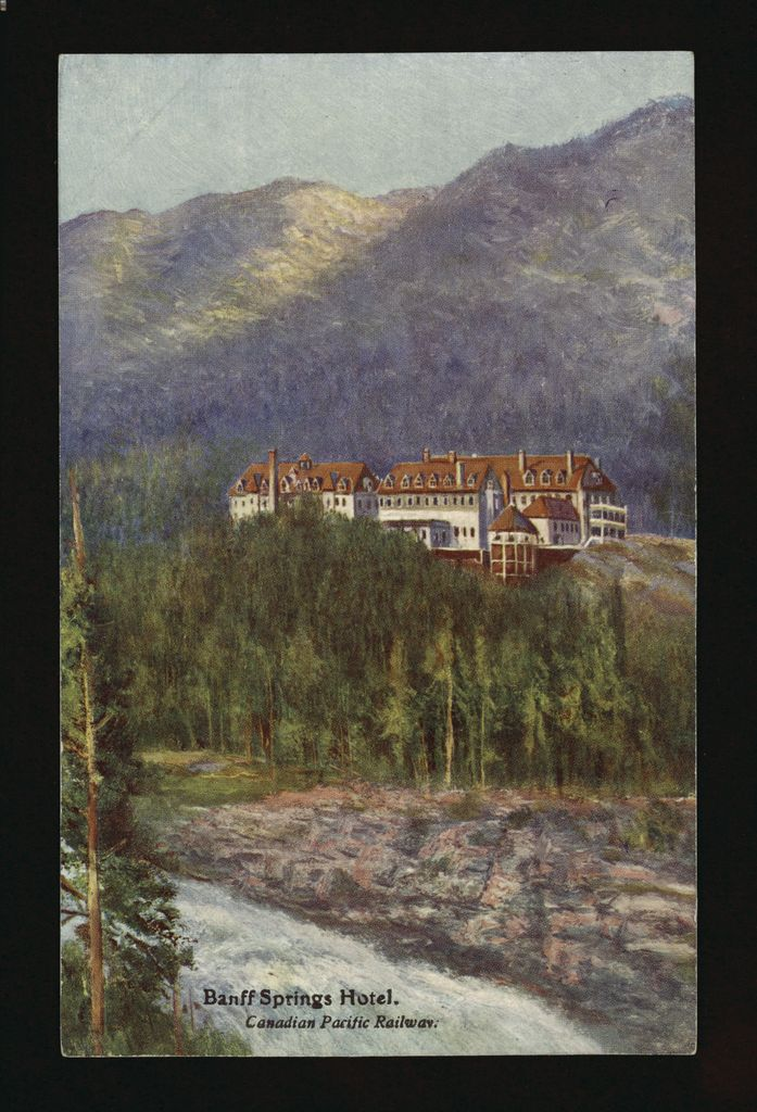 images of Banff Springs Hotel from 1920s