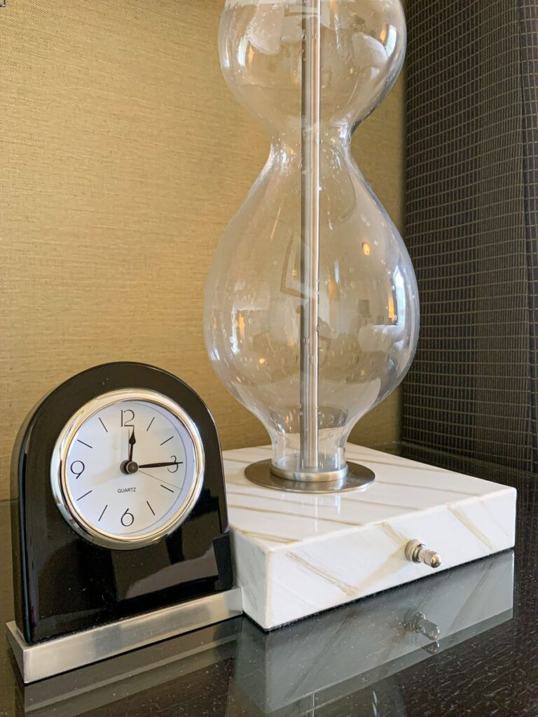 Elegant bedside touches in a Fairmont Room at the Banff Springs Hotel
