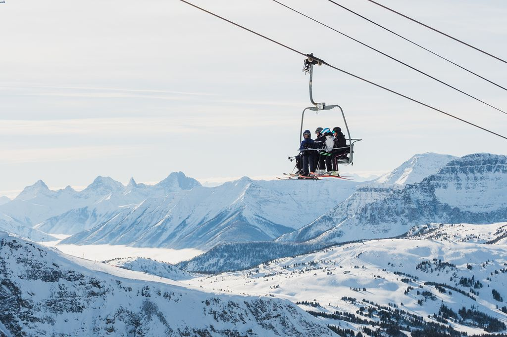 The Banff Springs Hotel is a 5-time winner of Canada's Best Ski Hotel - Sunshine Village shown