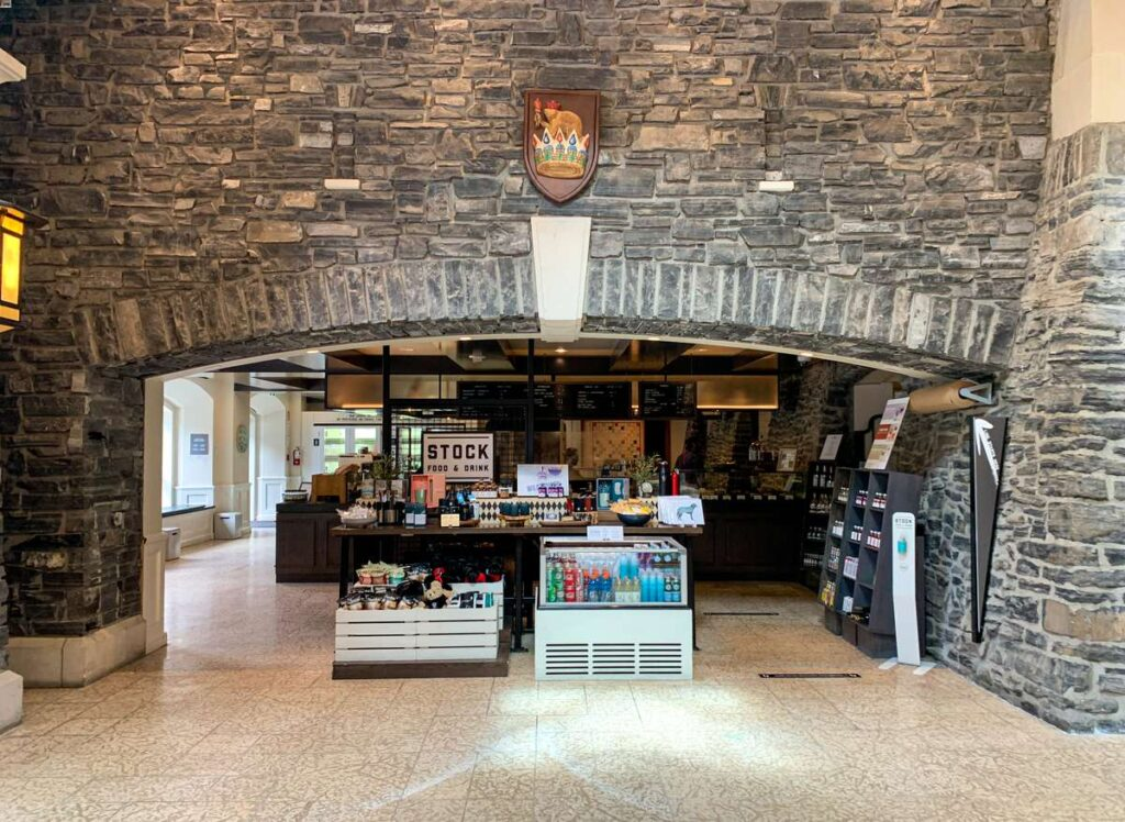 Enjoy a simple meal at STOCK Food & Drink at the Fairmont Banff Springs Hotel, Canada