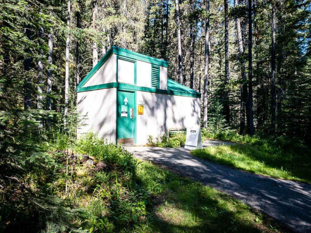 toilets on Sundance Canyon hike Banff