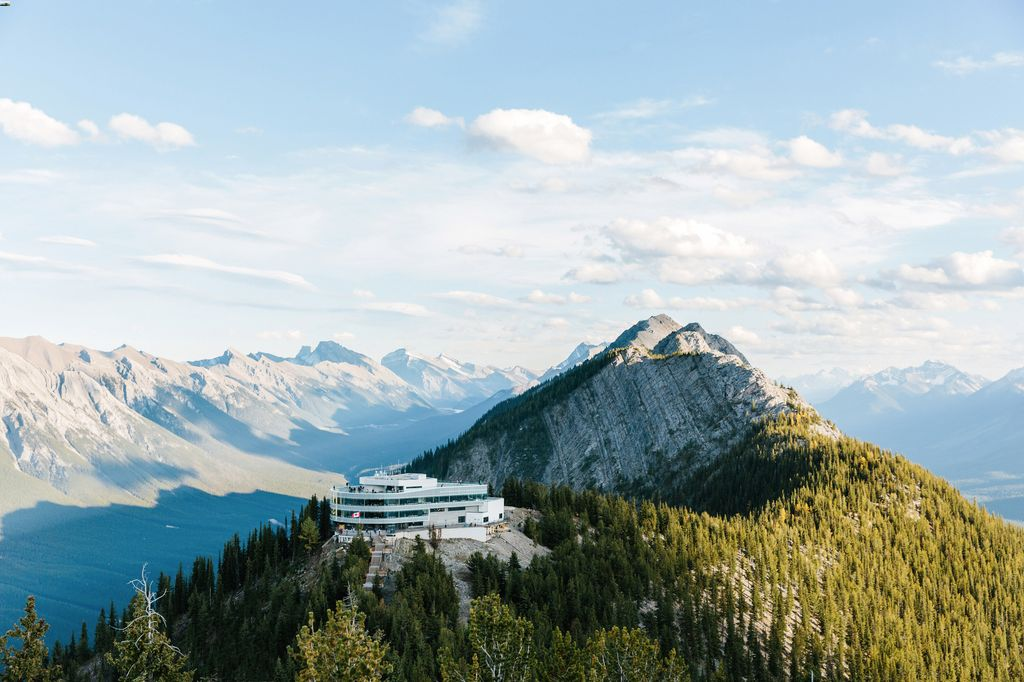 The Sulphur Mountain gondola is one of the best things to do near the Banff Springs Hotel