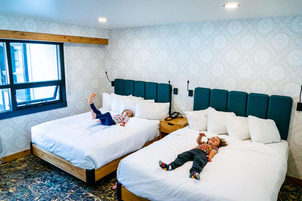 Kids in the Dorothy motel banff
