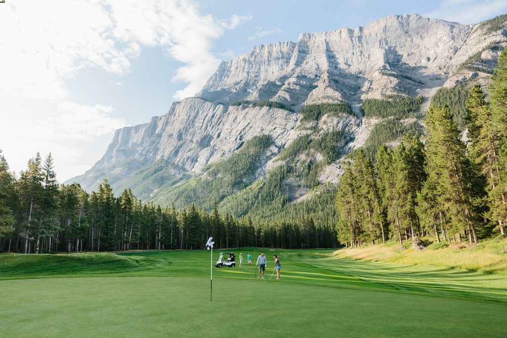 The best golf course in Banff - hole #2 of the Banff Springs Golf Course