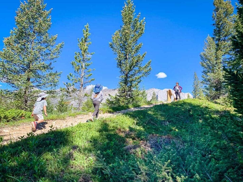 Hiking Moraine Trail Kananaskis kid friendly Hikes