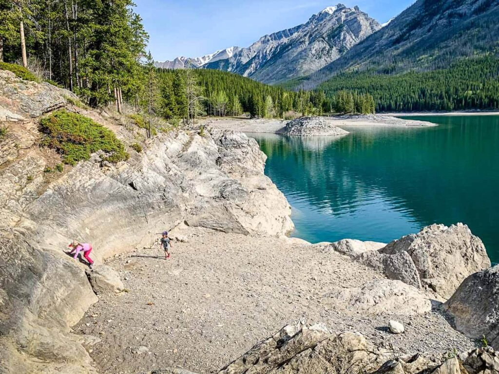 Beach at Banff Lake Minnewanka