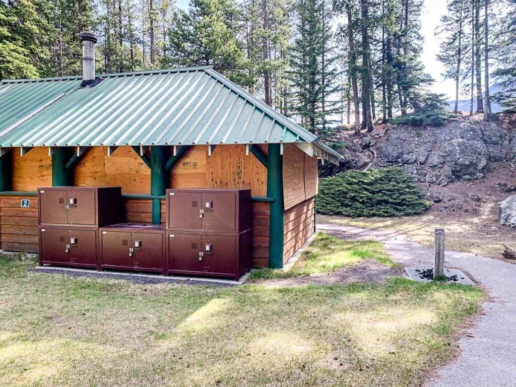 Bear Proof Food Storage at Lake Minnewanka