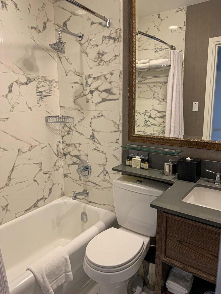 The bathroom in a Banff Springs Hotel Fairmont Room