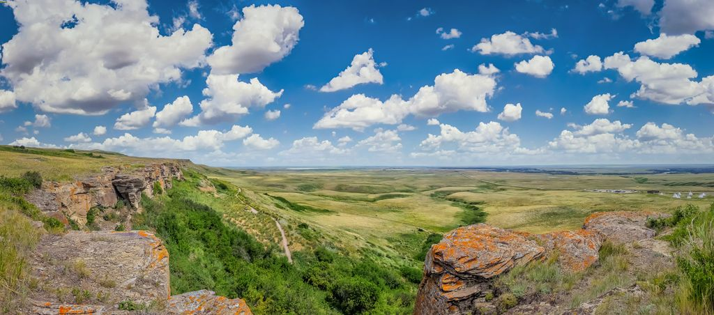 The UNESCO listed Head Smashed in Buffalo Jump is a stop on some luxury Banff Tours