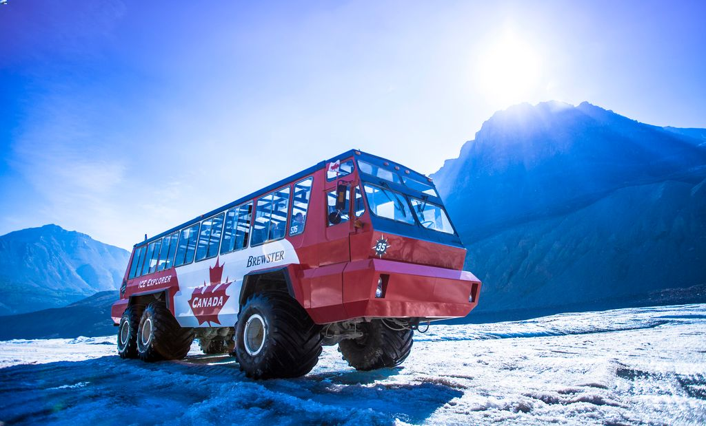 A good Banff tour will include a visit to the Athabasca Glacier for a ride on an Ice Explorer