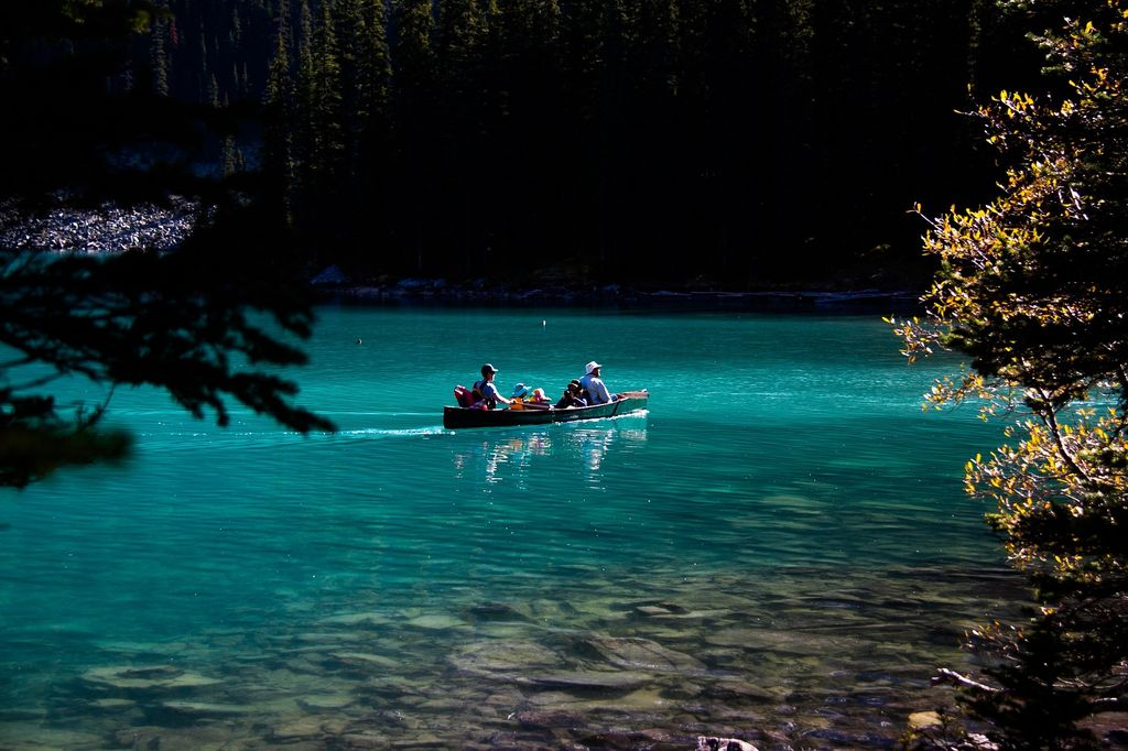 A stop at Moraine Lake is a must on all luxury tours to Banff