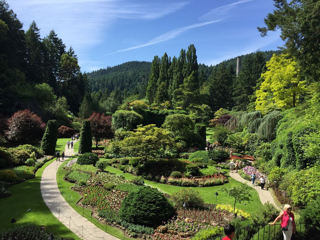 Many luxury tours from Vancouver to Banff will stop in Victoria for a visit to Butchart Gardens