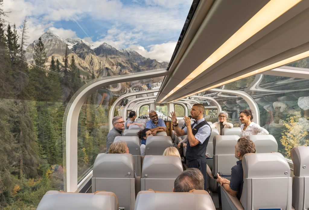 Rocky Mountaineer - the luxury train to Banff Canada