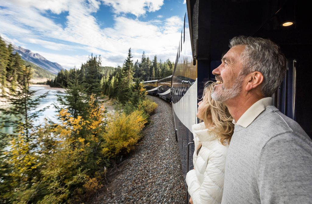 Take a train journey through Banff National Park on the Rocky Mountaineer