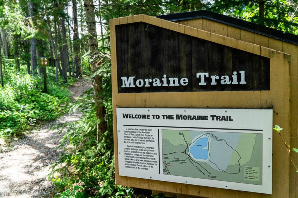 Moraine Interpretive Trail - Bow Valley Provincial Park Kananaskis