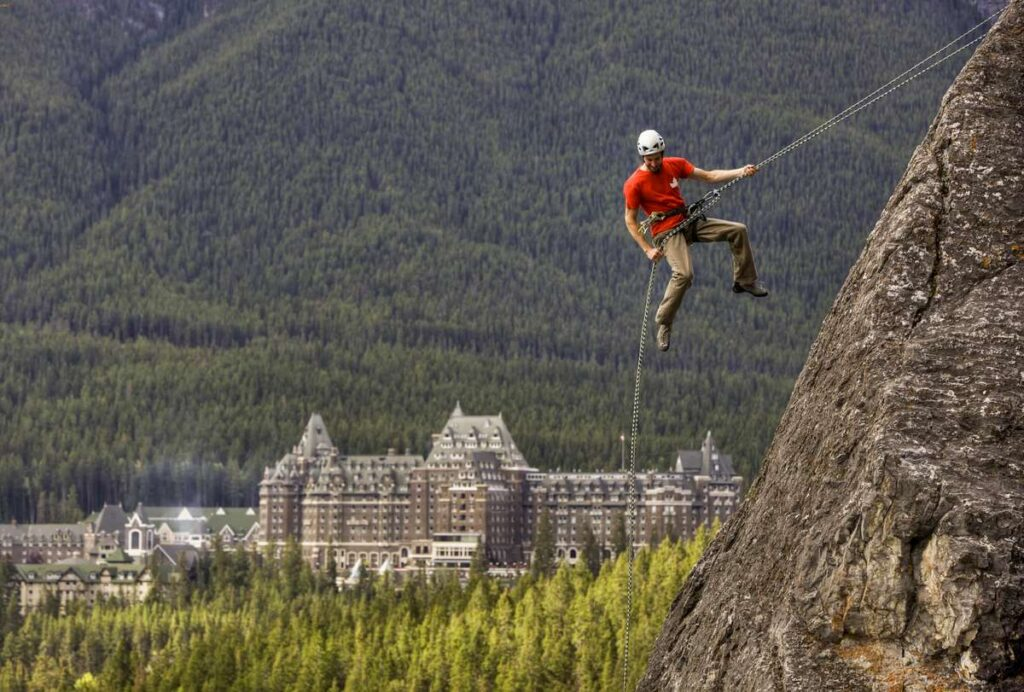 There are so many outdoor adventure reasons to stay at the Fairmont Banff Springs Hotel