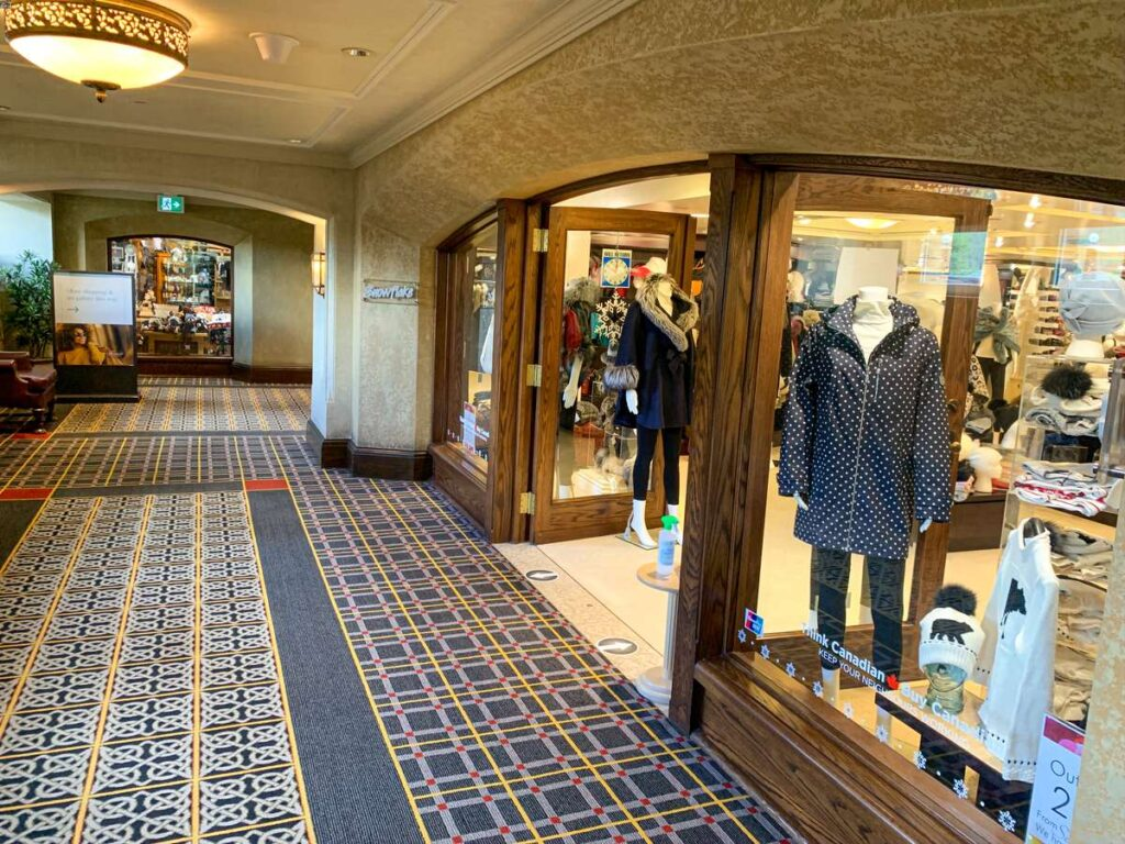 Treat yourself to something special from one of the luxury stores at the Banff Springs Hotel