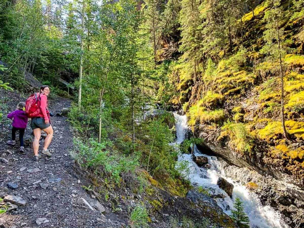 Sundance Canyon Hiking Trail in Banff National Park