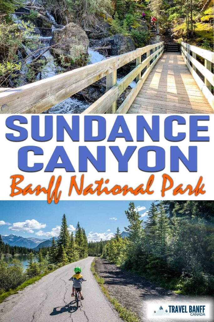 Don't miss the beautiful Sundance Canyon Trail in Banff National Park. Whether you decide to walk or bike the Sundance Trail, you'll be in awe of the mountain views and the water-filled canyon. This easy hike is perfect for visiting Banff with kids.