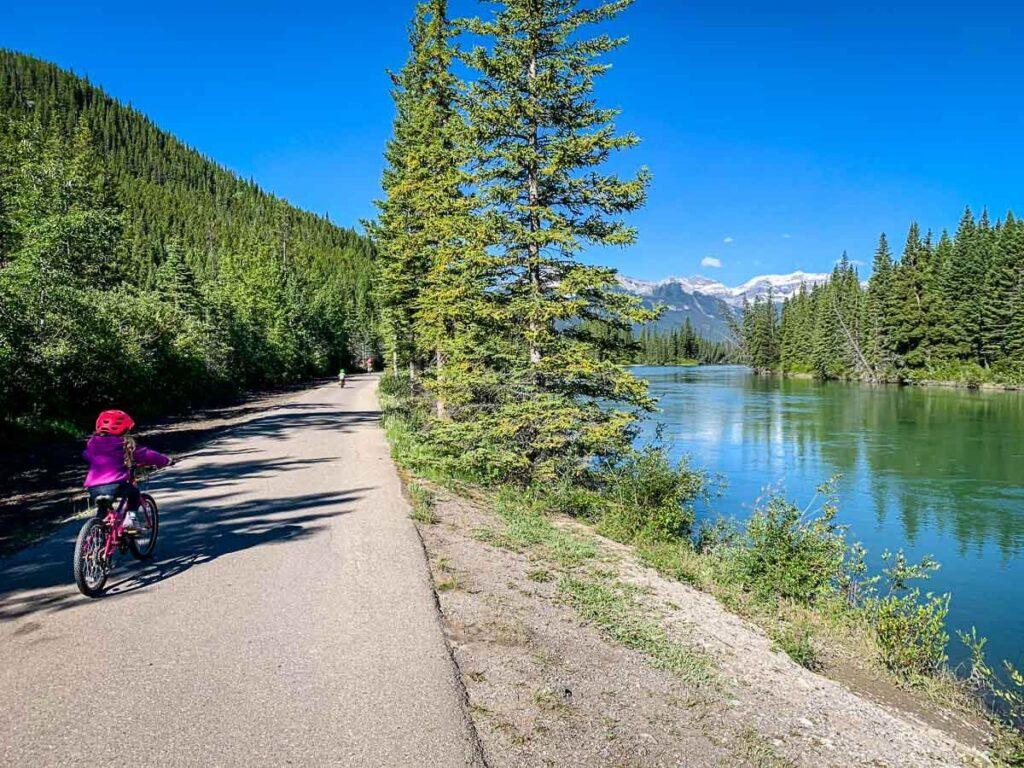 paved Sundance Trail in Banff