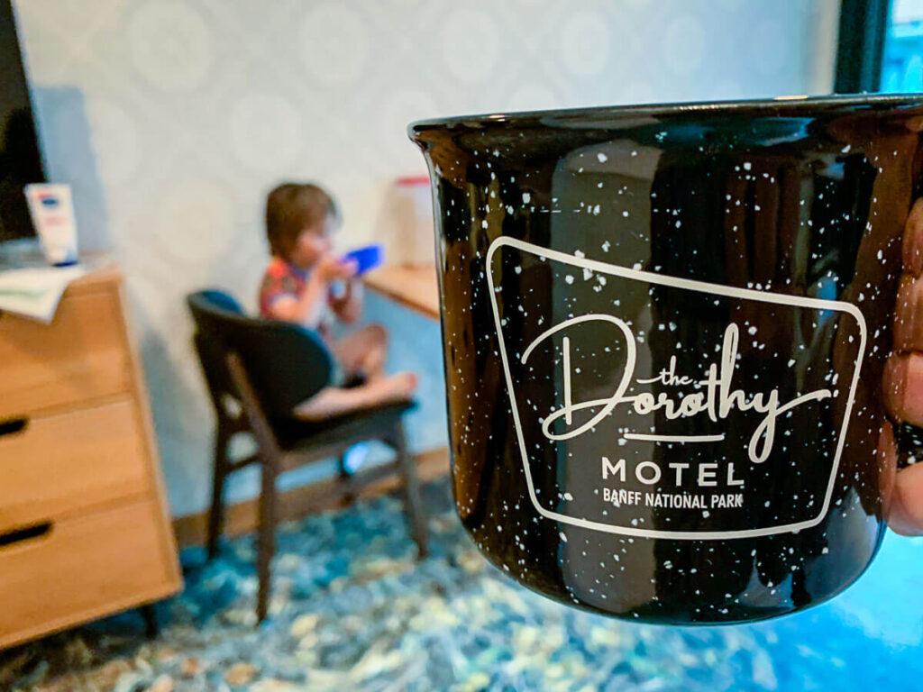 Coffee mugs Dorothy Motel accommodation in banff