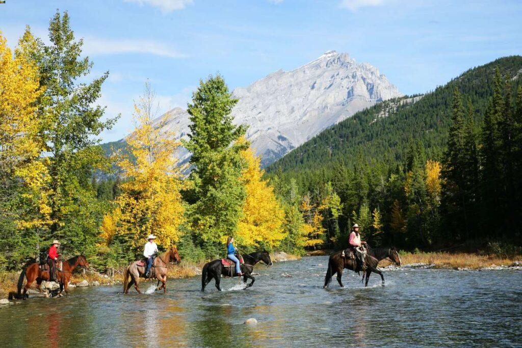Enjoy a fun guided horseback ride in Banff near the Fairmont hotel