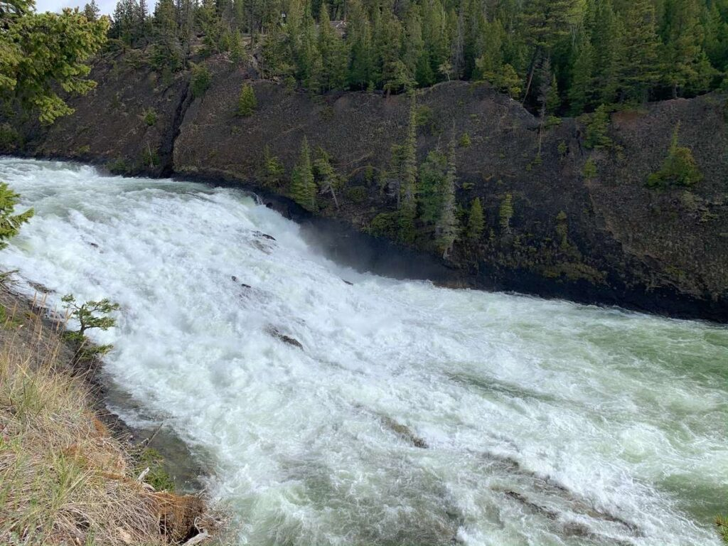 The raging Bow Falls are a short walk from the Banff Springs Hotel in Banff National Park