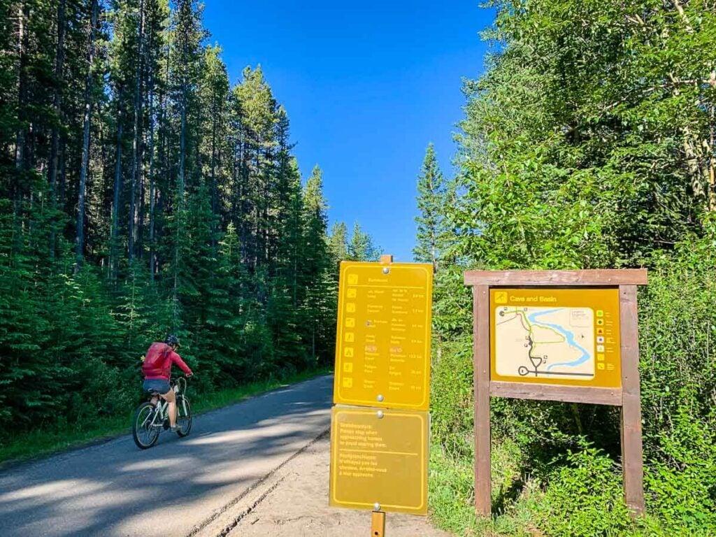 Sundance Canyon trailhead in Banff National Park