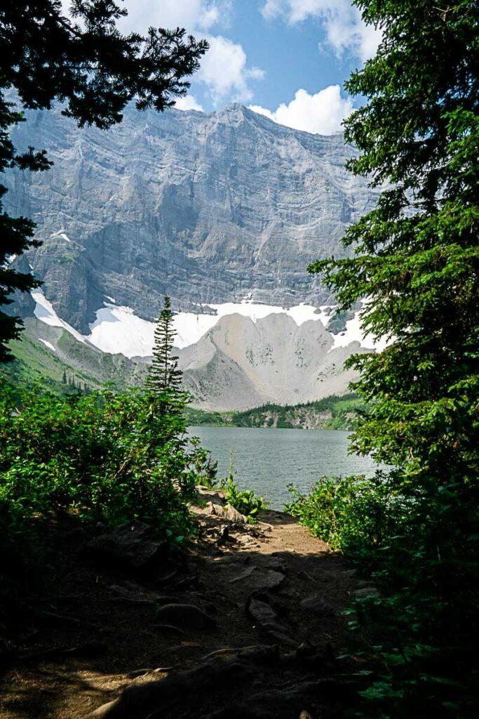 Rawson Lake views as approaching through the trees