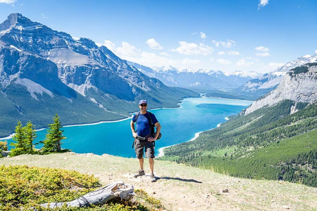 Standing at Aylmer Lookout Banff National Park