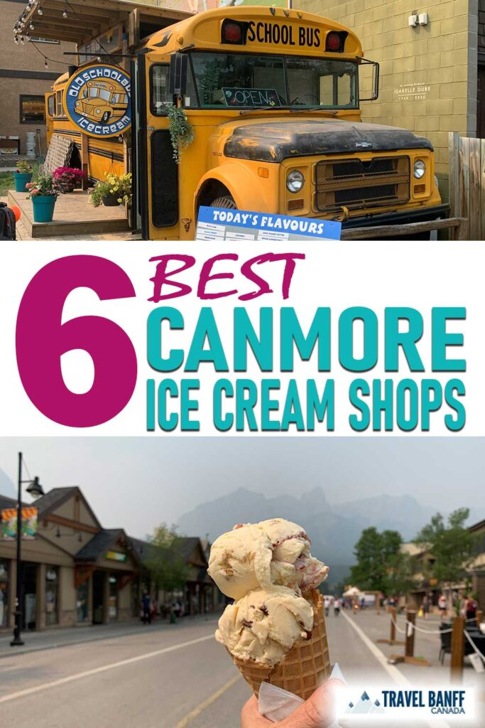 Reward yourself from one of Canmore's best ice cream shops after a long hike in the mountains!