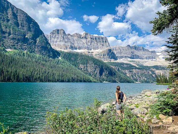 Hiking to Boom Lake in Banff National Park