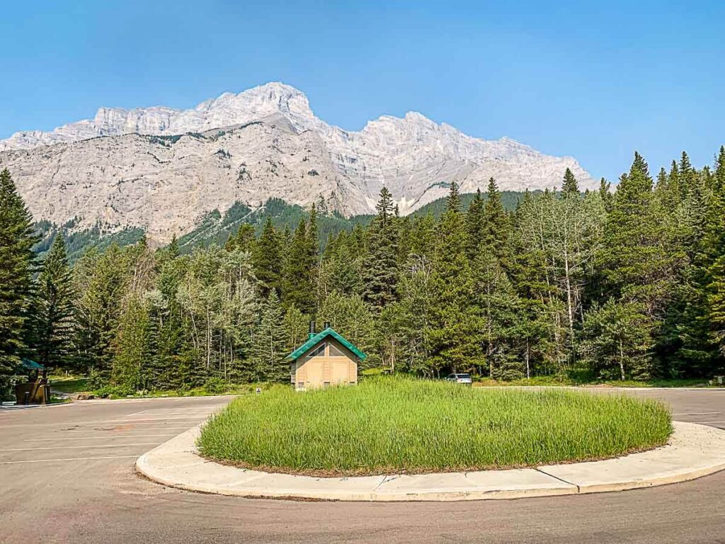 C Level Cirque Parking at Upper Bankhead - Banff