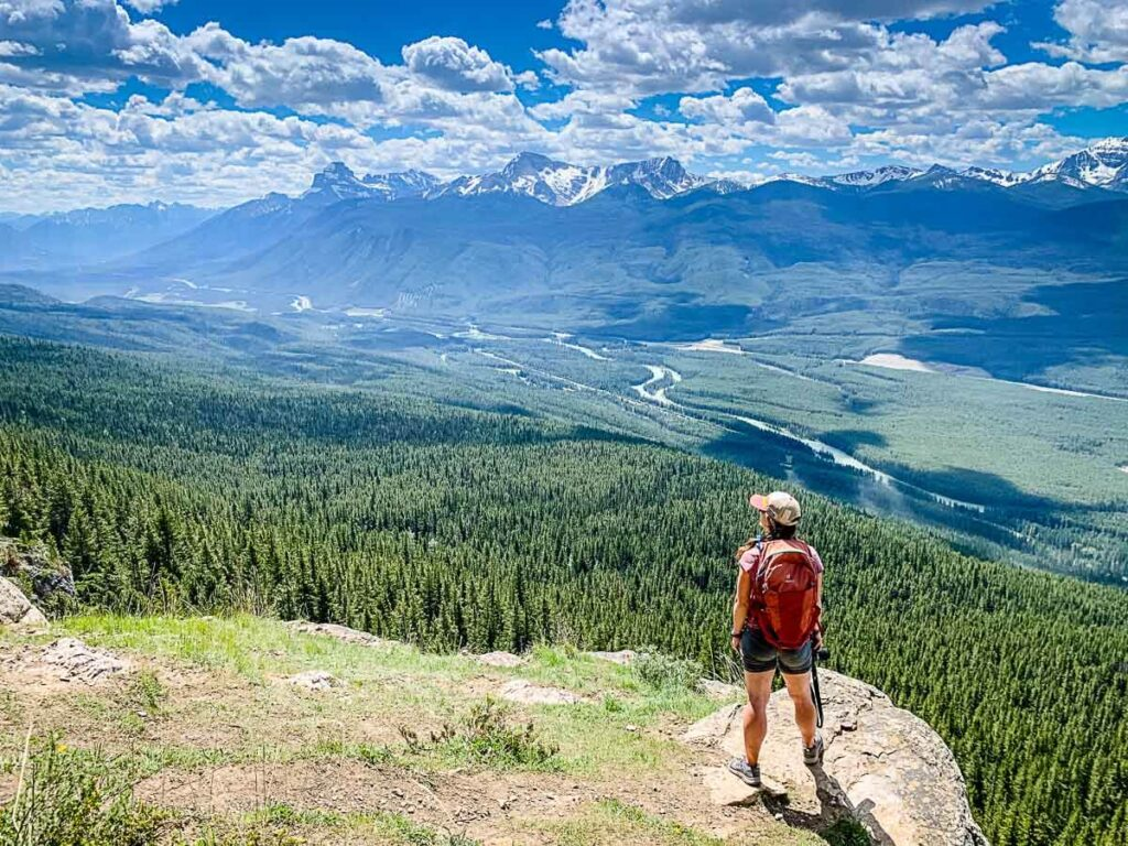 View of Bow Valley from Castle Lookout - Banff National Park