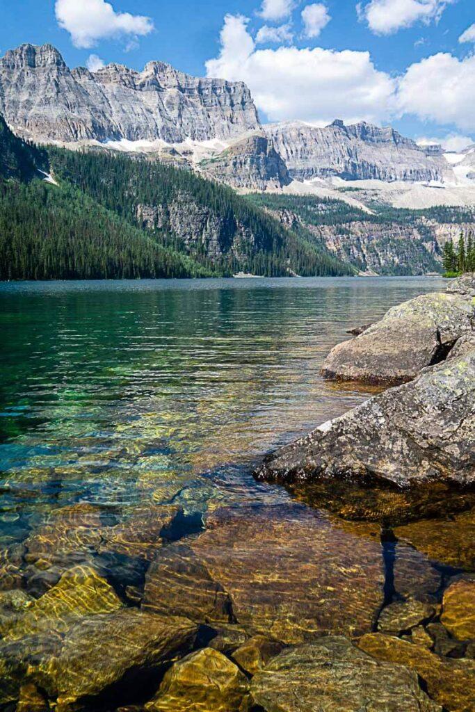Clear water of Boom Lake Banff
