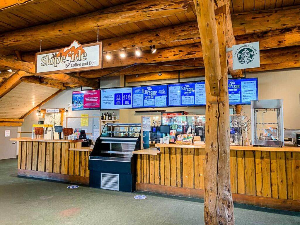 Coffee shop at Lake Louise Gondola