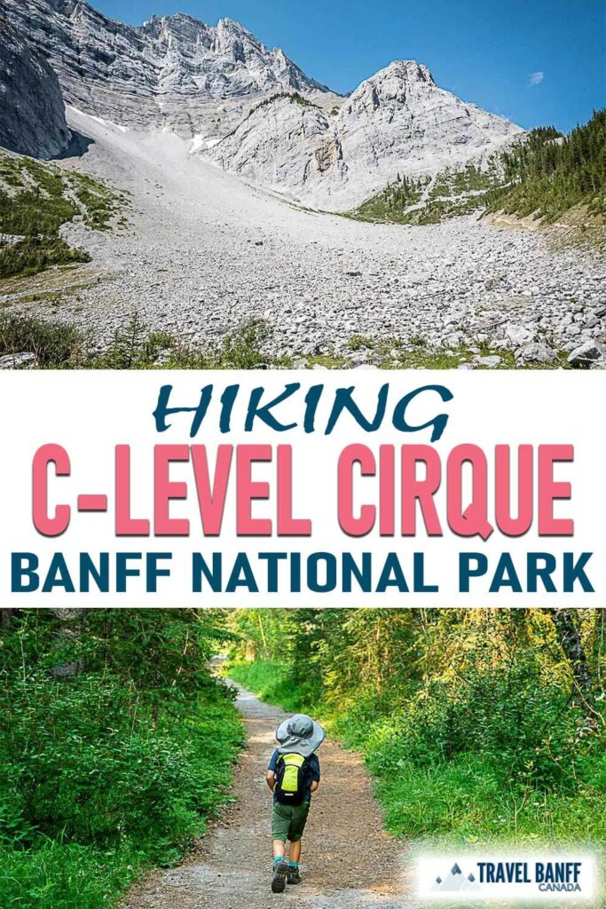 C-Level Cirque hike in Banff National Park is a great family-friendly hike. It has some challenging sections, but the pay-off is worth! Take your time in the boulder field and have some fun spotting pikas!