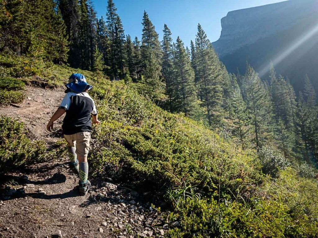 Hiking with Kids in Kananaskis - West Wind Pass trail