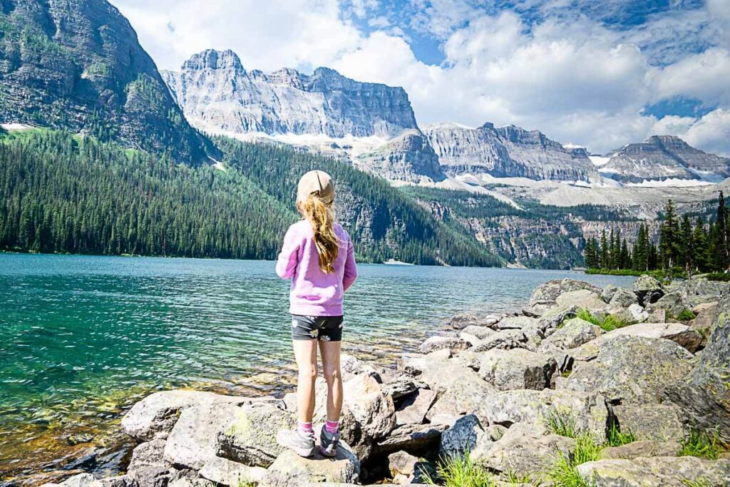 Hiking to Boom Lake in Banff National park with Kids