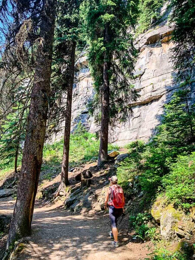 Hiking the lake agnes tea house trail - best Lake Louise hikes