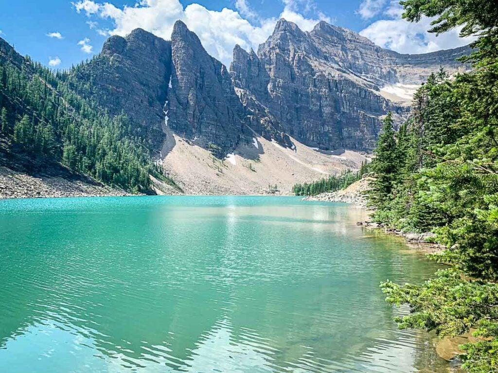 lake agnes hike leads to beautiful Lake Agnes