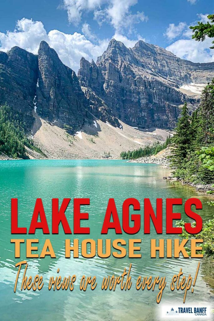 Lake Agnes Tea House hike - a must-do Lake Louise hike. Leaving right from the Lake Louise lakeshore trail, this Lake Louise hike takes you to two incredible Banff lakes: Lake Agnes and Mirror Lake. As an added bonus, the Lake Agnes Tea House makes the perfect destination. Enjoy a snack and a tea at the top!